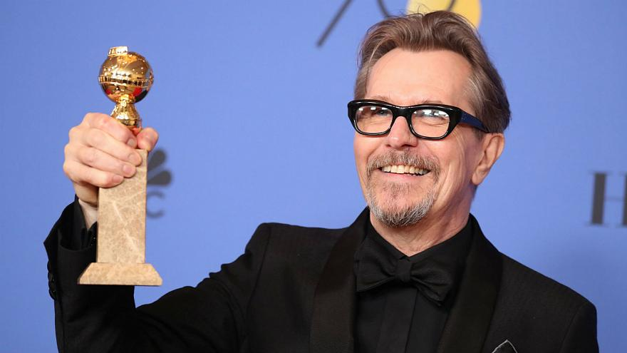 "Gary Oldman won best actor in a drama for ""Darkest Hour."""