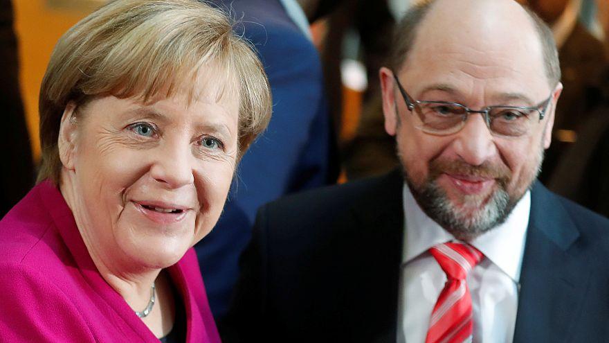 """Merkel/Schulz : d'accord pour """"une nouvelle politique"""""""