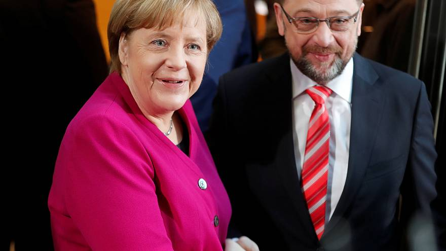 Germany's Merkel battles for political survival in 'last-ditch' talks with SPD