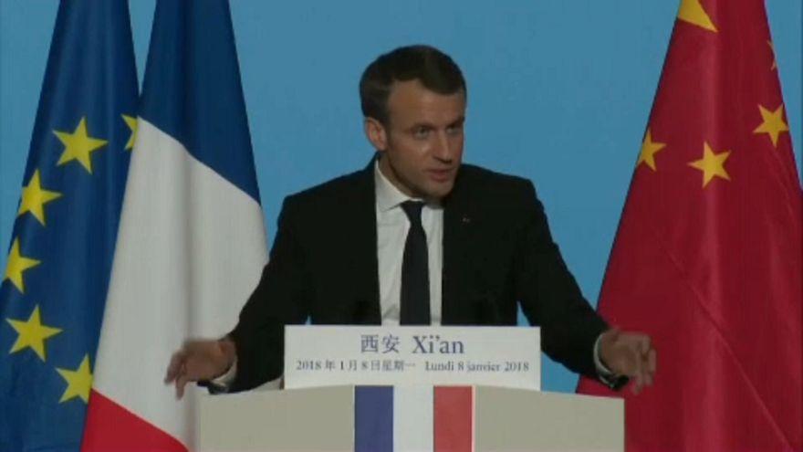 Macron'dan Çin'e önemli ziyaret