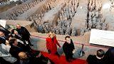 """Eine """"neue Seidenstraße"""": Macron beginnt China-Besuch"""