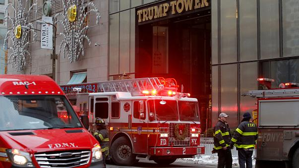 Three injured in blaze on roof of Trump Tower