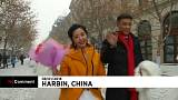 Chinese couples brave cold for ice wedding