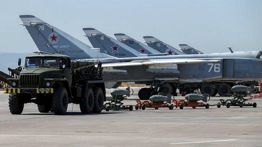 شاهد بالصور الطائرات التي هاجمت قاعدتين عسكريتين لروسيا في سوريا