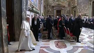 Pope Francis delivers a hard-hitting address from the Vatican