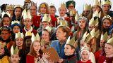 Des chants de Noël pour la chancelière