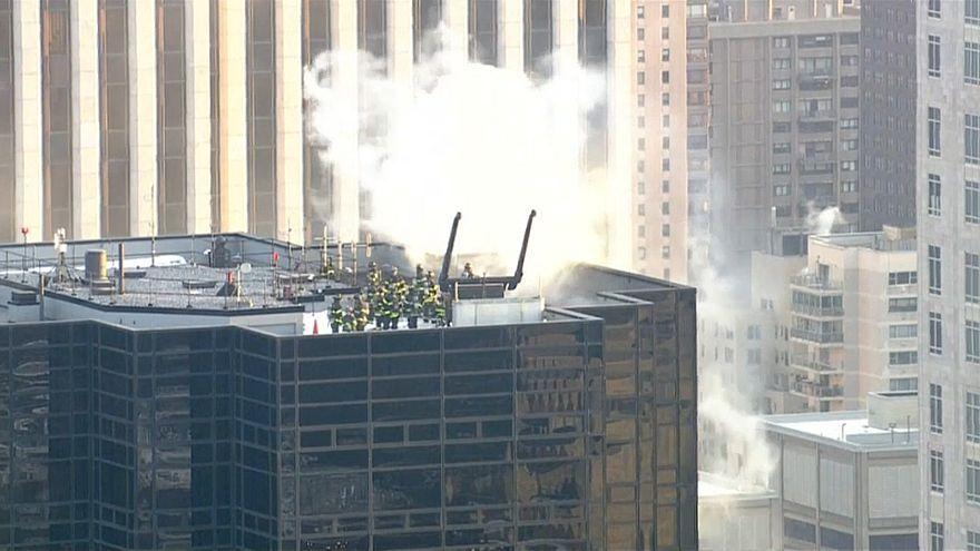 2 Verletzte bei Brand auf Trump Tower