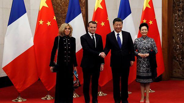 China: Emmanuel Macron trifft Xi Jinping in Peking