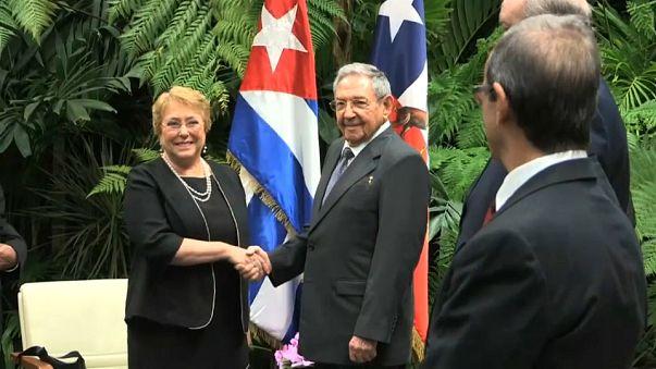 Última visita oficial de Bachelet a Cuba