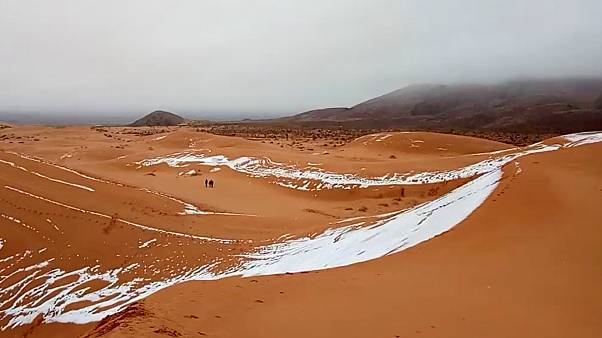 View of snow in the Sahara, Ain Sefra