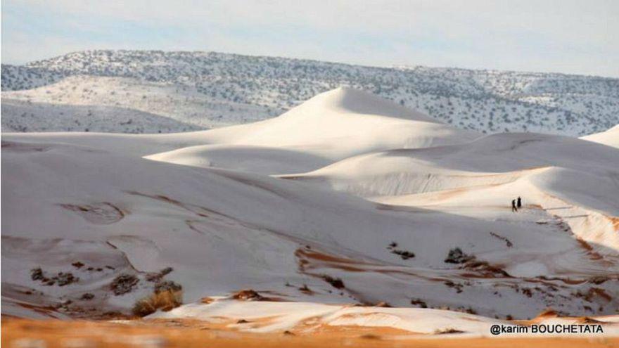 A természet újabb tréfája: havazott a Szaharában
