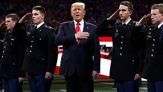 Trump beim Footballspiel in Atlanta