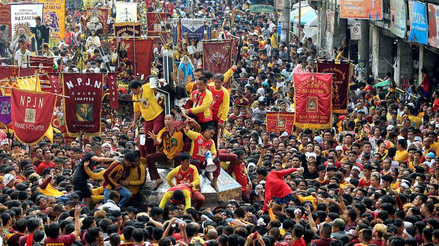 'Black Nazarene' procession in Quiapo city, Metro Manila