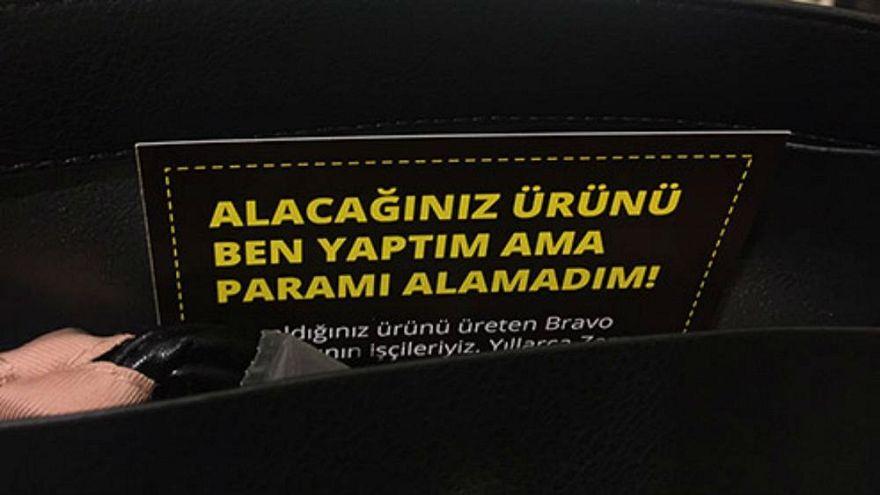Des ouvriers turcs réclament leur dû à Zara