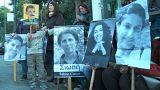 Paris'te öldürülen 3 PKK'lı için Atina'da protesto gösterisi düzenlendi
