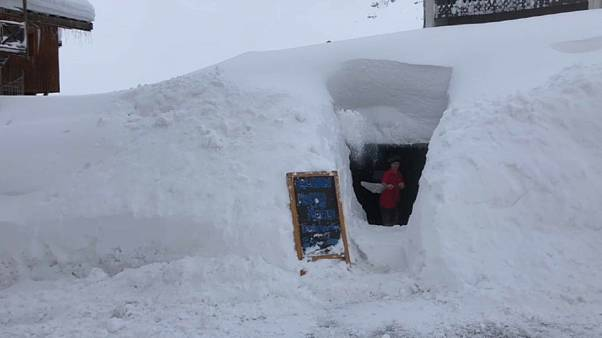 Лавинная опасность во французских Альпах