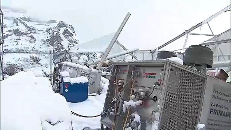 Tombol a tél a francia hegyekben