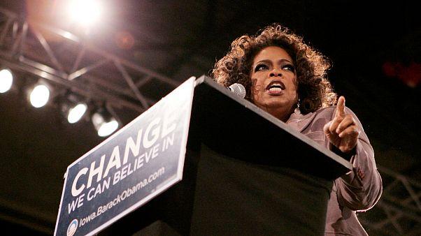 Oprah Winfrey durante la campaña de Obama