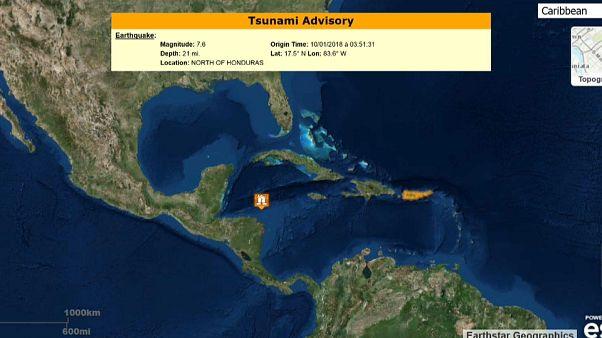 Un terremoto de magnitud 7,6 sacude el Caribe entre Honduras y Cuba