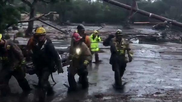 Kalifornien: Hochwasser verwüsten verbrannte Regionen