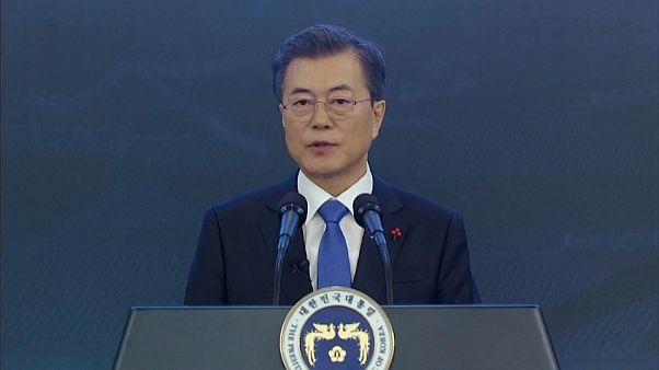 El presidente surcoreano durante su discurso de Año Nuevo
