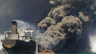 Iran tanker collision