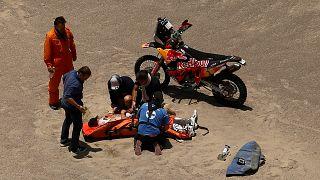 Sunderland crashes out of 2018 Dakar Rally