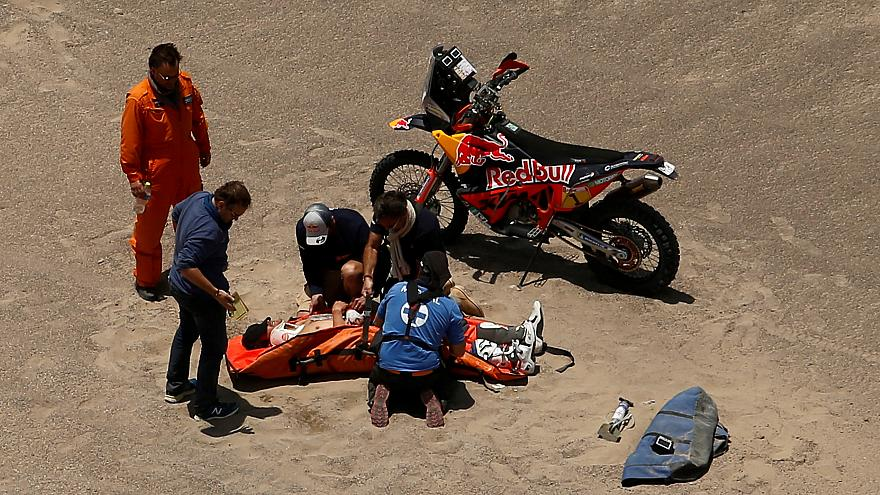Sunderland crashes out of 2018 Dakar Rally