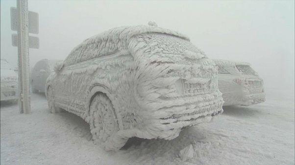 Quand la tempête crée des sculptures de glace