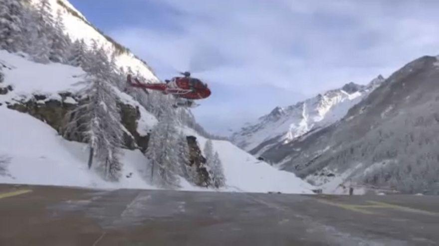 Mentik a turistákat Svájcban
