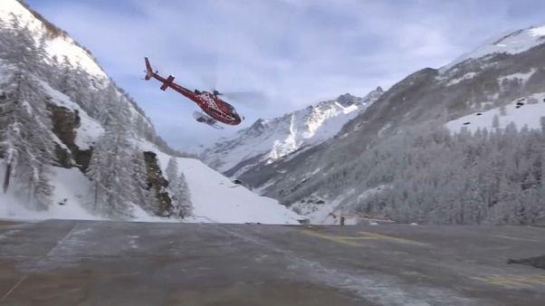 Comienza la evacuación de los turistas atrapados en Zermatt