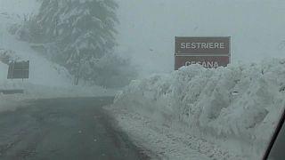 Снежный хаос в Альпах