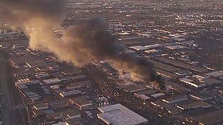 Riesige Rauchwolke über Denver