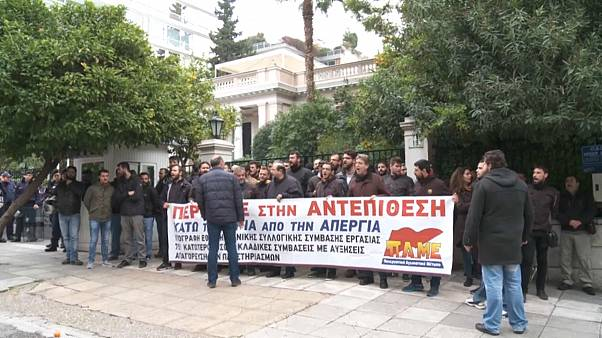 Manifestação contra decisões do governo grego em Atenas