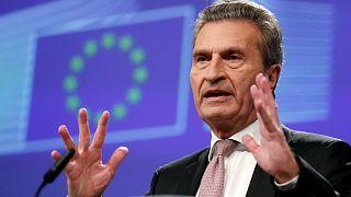 Il commissario al bilancio Günther Oettinger