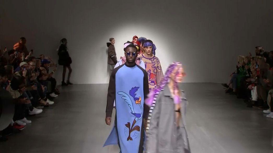 """Semana da moda de Londres: do """"cartoon"""" às artes marciais"""