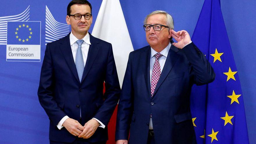 Polens Regierungschef Morawiecki bei EU-Kommissionspräsident Juncker