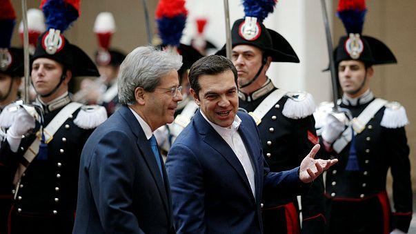 İtalya ve Yunanistan liderleri yasa dışı göçü görüştü