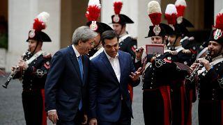 Gentiloni empfängt Tsipras in Rom