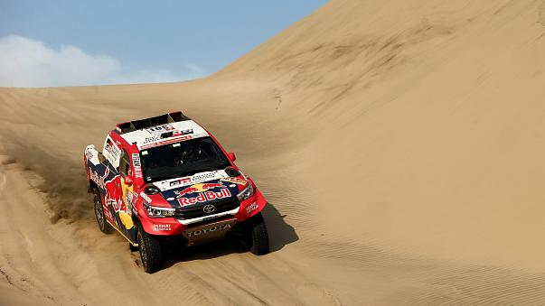 Thrills and spills on day five of Dakar Rally