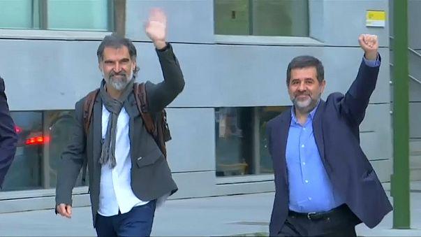 Inhaftierte Katalanen: 2 Jordis fordern in Madrid Freilassung