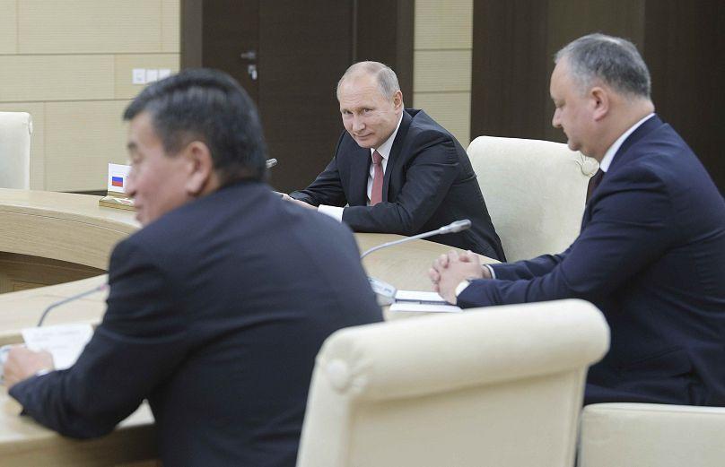 Putin, Dodon e Jeenbekov del Kirghizistan