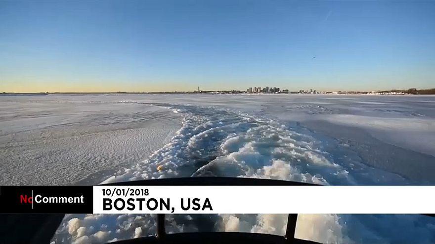 Boston Limanı'ndaki buzlar kırıldı
