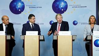 Chefe da diplomacia da UE com homólogos de França, Alemanha e Reino Unido