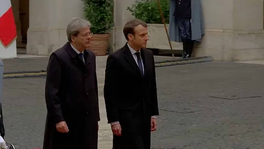 Macron és Gentiloni a menekültválságról