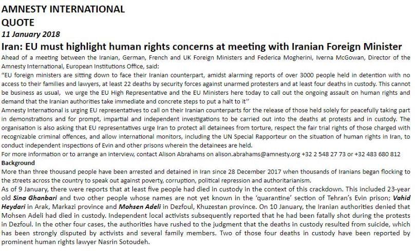 Iran, Londra:
