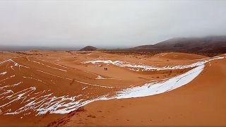 L'hiver s'est emparé de l'Afrique du Nord