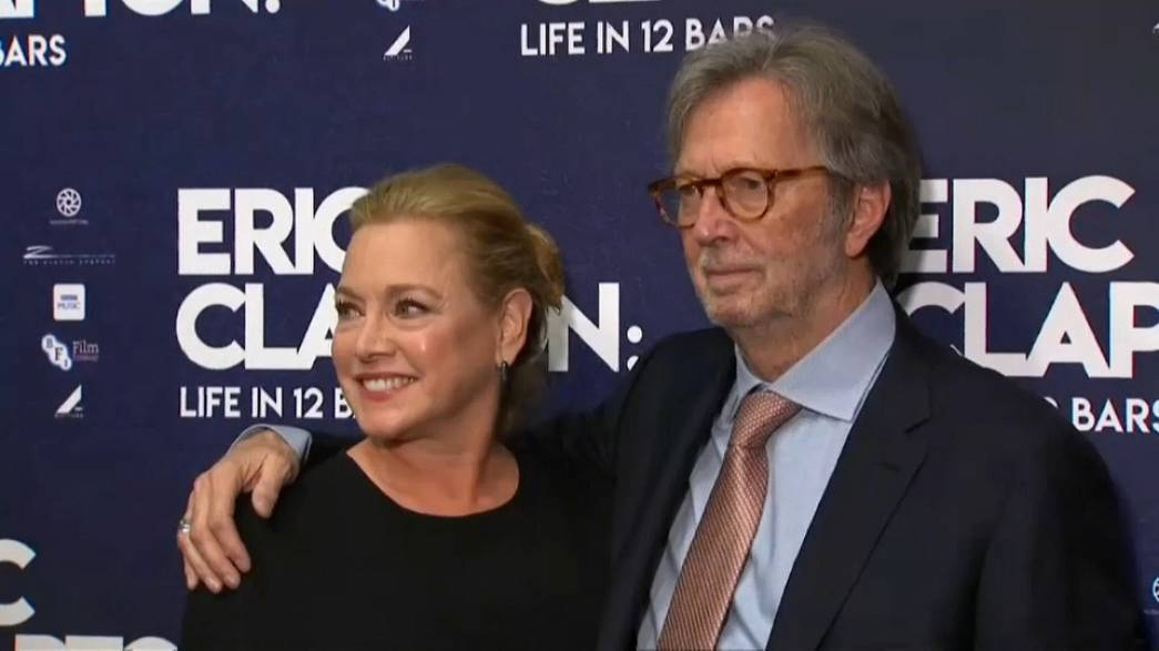 Legendary guitarist Eric Clapton with friend and director Lili Fini Zanuck