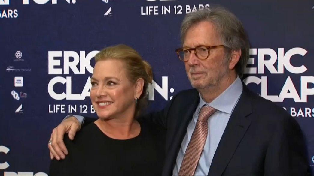 Legendary guitarist Eric Clapton with friend and director Lili Fini Zanuck