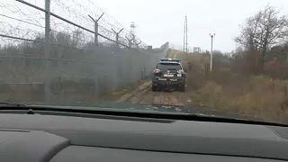 La barriera alla frontiera fra Bulgaria e Turchia